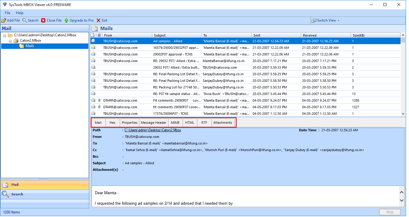 Forensic MBOX Viewer – Free Tool to Examine & Analyze MBOX Files